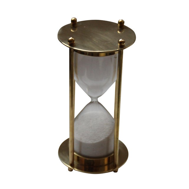 Brass Hourglass 5 Minute Sand Timer - Image 1 of 2