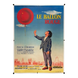 "Vintage 1956 French ""Le Ballon Rouge"" Film Poster"