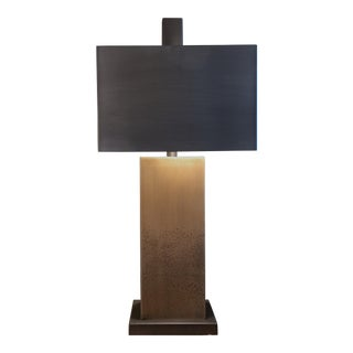 Bronze Table Lamp & Metal Shade