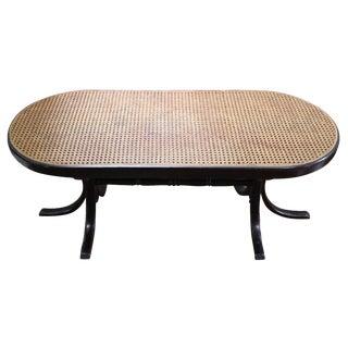 Mahogany Bent Wood Caned Coffee Table