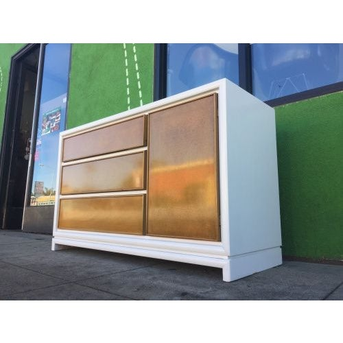 Mid-Century White & Walnut Credenza - Image 3 of 3