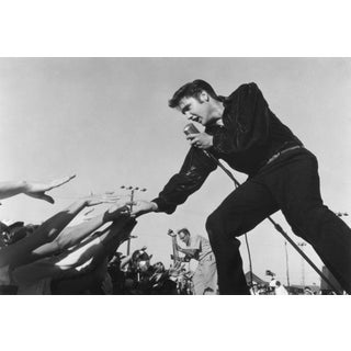 Roger Marshutz Elvis Presley Performing in Tupelo 1956 Photograph