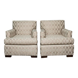Pair of Tuxedo Lounge Chairs
