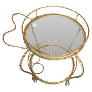Gold Rope Bar Cart