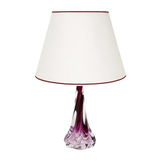 Val St Lambert Purple Table Lamp