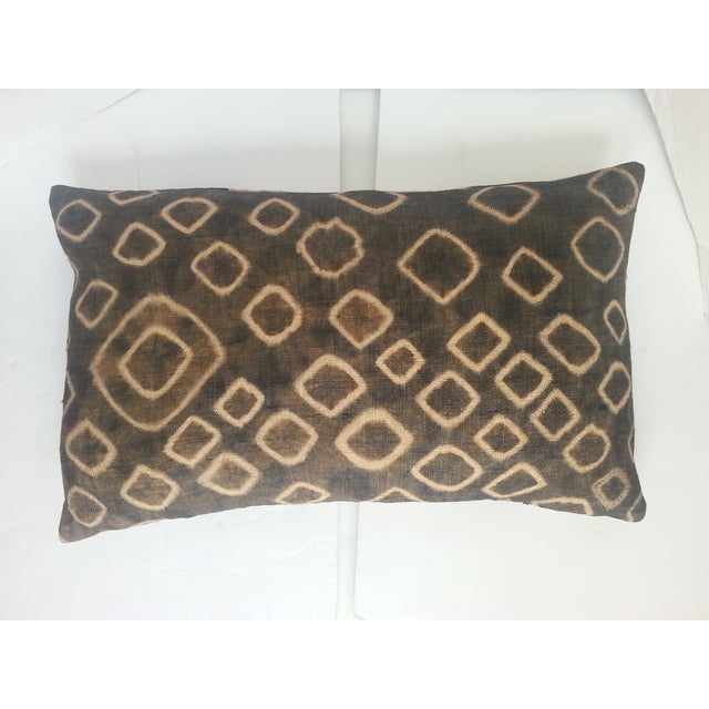 Spotted African Kuba Cloth Pillow - Image 2 of 3