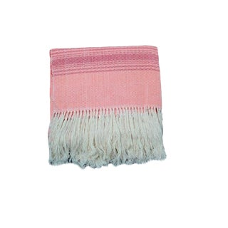 Pink Rebozo Sofa Throw