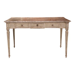 19th Century French Louis XVI Painted Writing Table