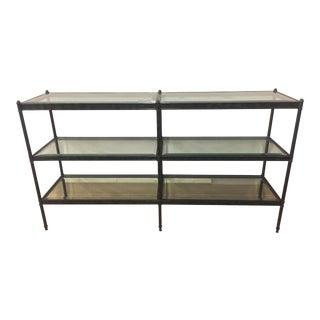 Sherrill Furniture Metal & Glass Console