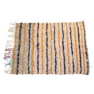 Vintage Boucherouite Moroccan Rag Rug - 4′1″ × 5′2″