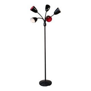 Vintage Modern Tulip Five Arm Lamp