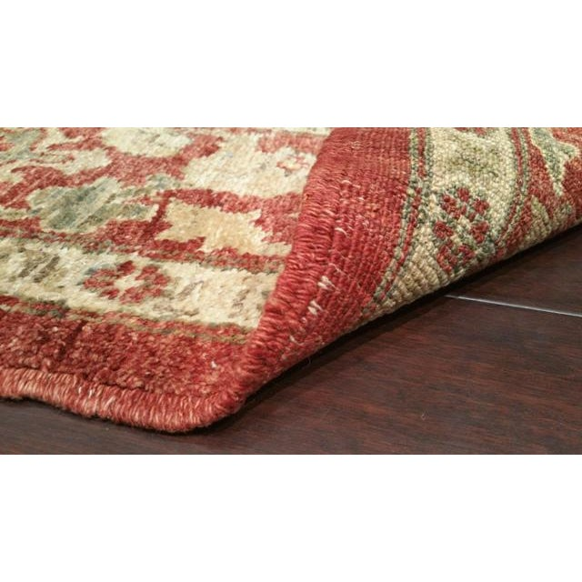 6′ × 13′5″ Vintage Traditional Hand Made Knotted Wide Runner Rug - Size Cat. 13 Ft 14 Ft Wide Runner - Image 2 of 2