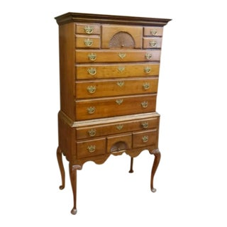 Cherry Queen Anne Highboy