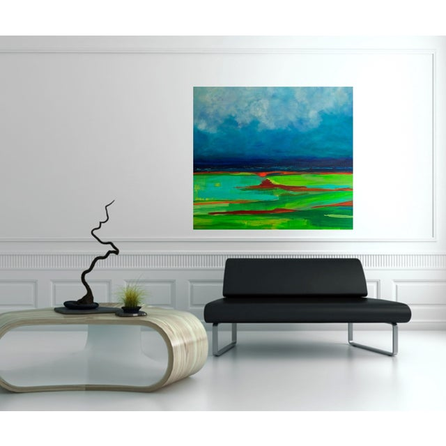 Image of Green Fields Painting by Bryan Boomershine
