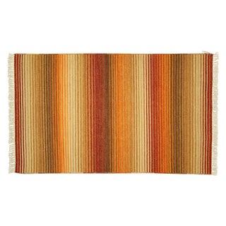 Rainbow Wool Kilim Rug - 3' x 5'