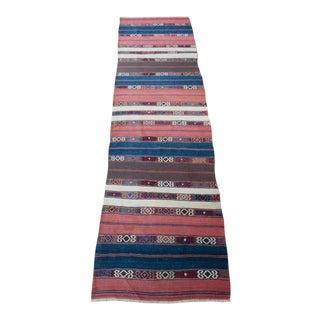 """Anatolian Turkish Wool Kilim Rug - 9'7"""" x 2'6"""""""