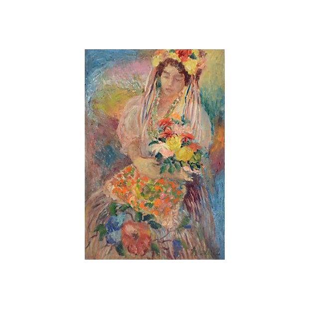 Image of Folk Dancer Oil Painting