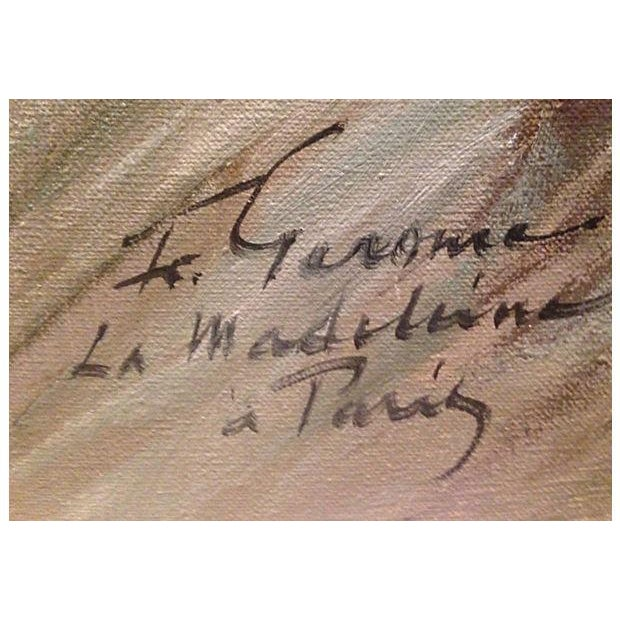 Image of 1950's Gerome-Signed Le Madeliane Oil Painting