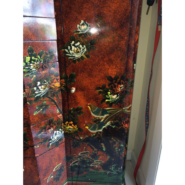 Red Asian Cabinet - Image 3 of 9