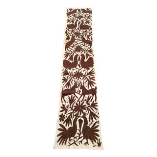 Brown Otomi Runner Handmade in Mexico