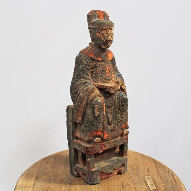 Antique Chinese Emperor Statue Chairish