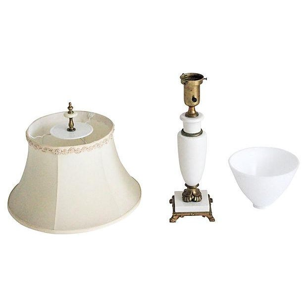 Porcelain Lamp With Custom Shade - Image 8 of 9
