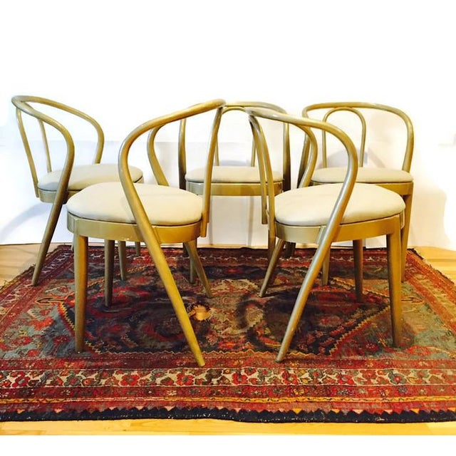 Vintage Modern Bentwood Dining Chairs - Set of 5 - Image 7 of 11