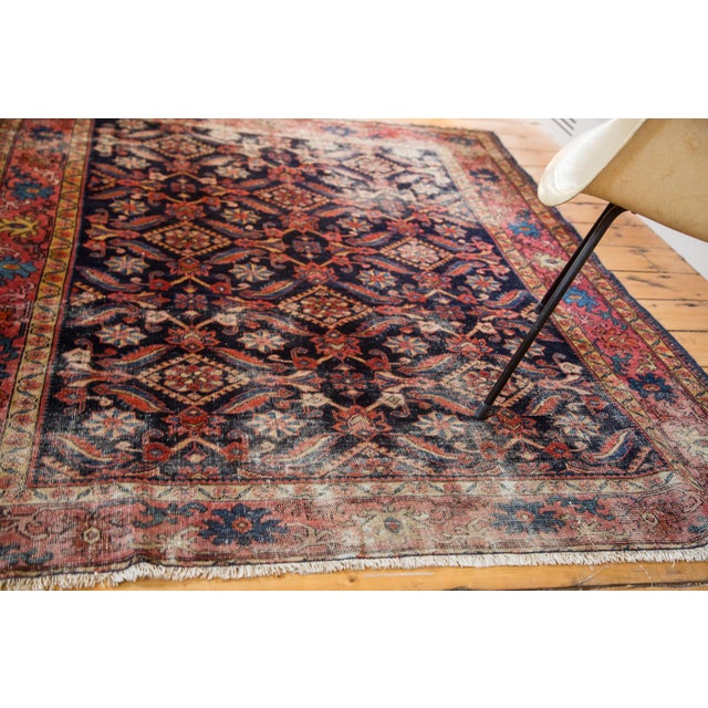 Antique Distressed Malayer Rug - 5' X 6'3""