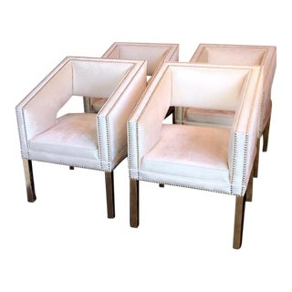 ModShop Velvet Dining Chairs - Set of 4