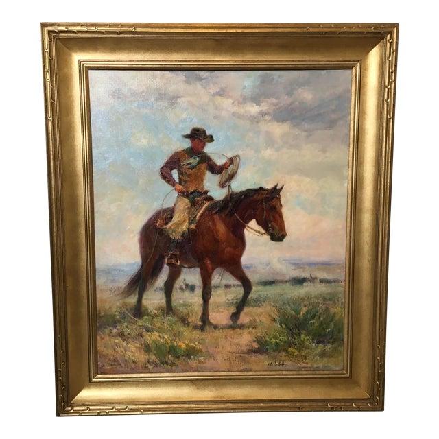 """Montana Artist Joyce Lee """"Practice Loop"""" Original Painting - Image 1 of 9"""