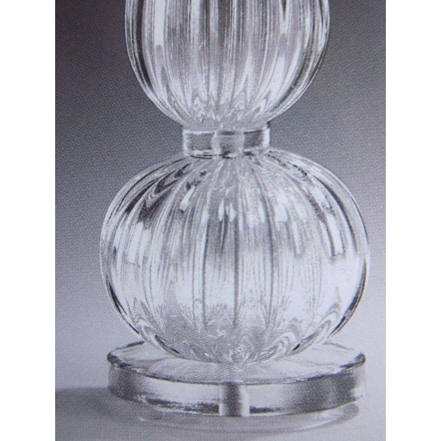 Image of 4 Clear Murano Glass Table Lamps Attributed to Barovier & Toso