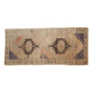 "Vintage Distressed Oushak Rug Runner - 3'7"" x 8'"