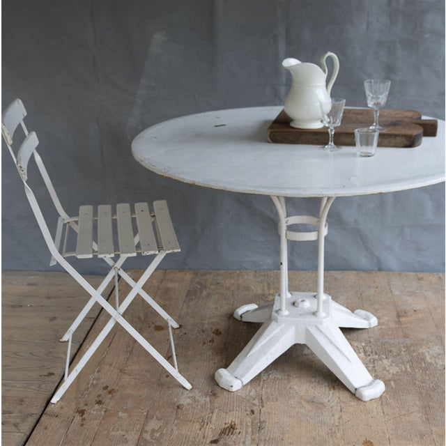 Vintage Cast Iron Bistro Table - Image 4 of 7