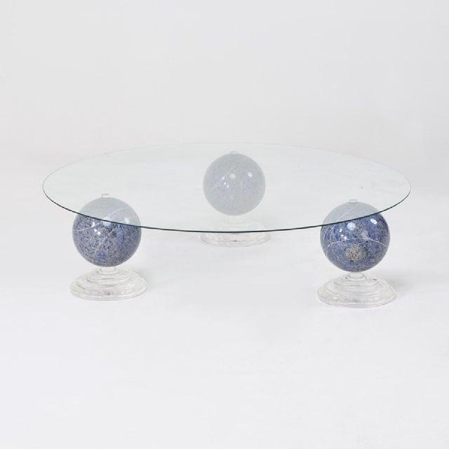 "Lapis Lazuli ""Tri-Orbic"" Coffee Table, C. 1983 - Image 3 of 6"