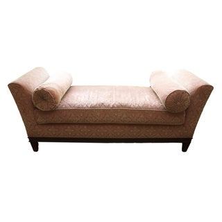 Backless Upholstered Settee Bench