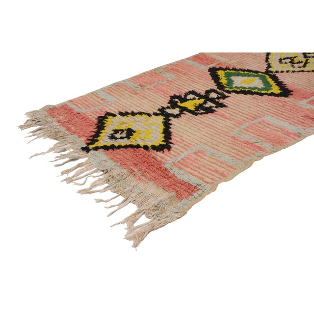 Vintage Moroccan Berber Tribal Design Runner - 3'8 x 8' - Image 2 of 7