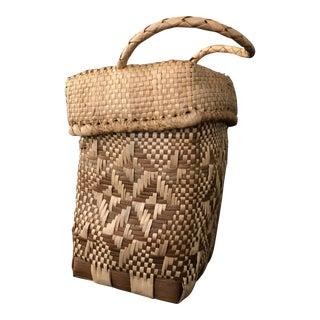 Square Rattan Basket & Lid