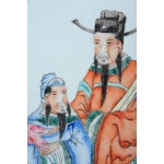 "Image of Chinese ""Scholars"" Antique Hand Painted Porcelain"