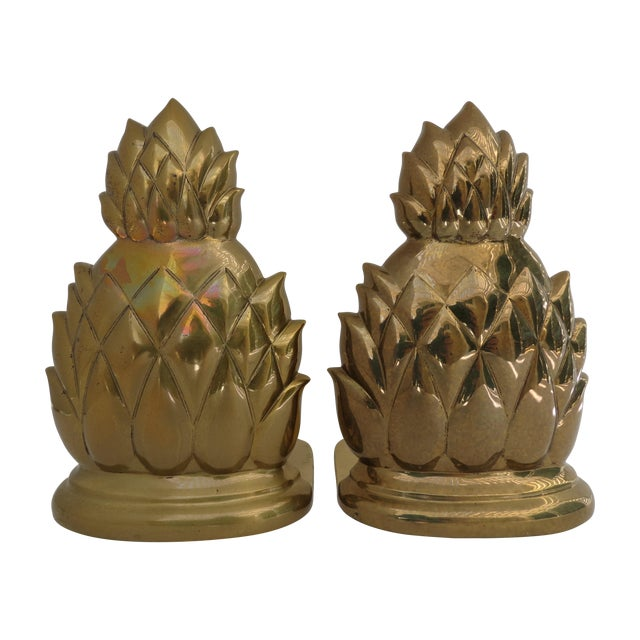 Image of Brass Pineapple Bookends