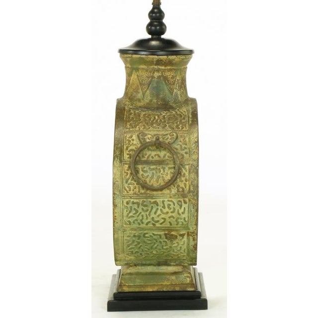 Pair Monumental Bronze Chinese Urn Table Lamps - Image 7 of 9