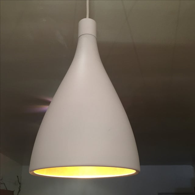 White & Gold Pendant Light Fixture - Image 3 of 7
