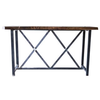 Walnut Slab Console