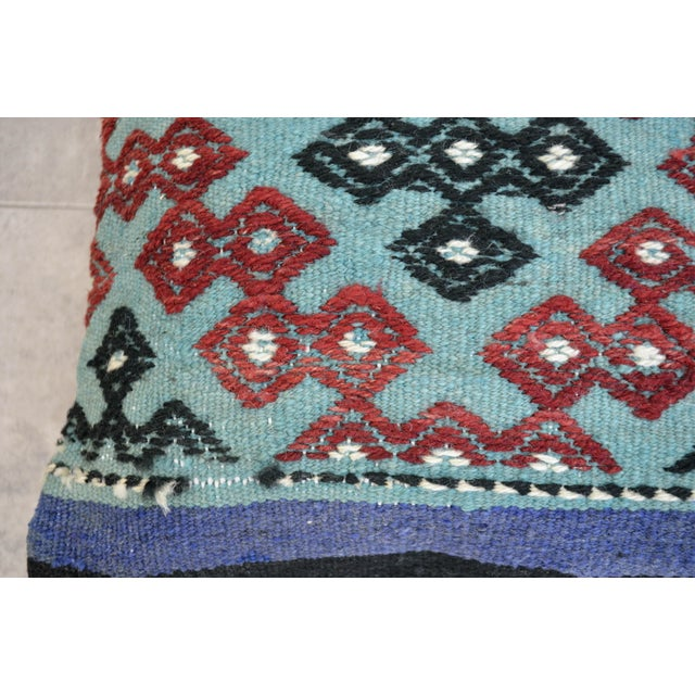 Hand-Woven Turkish Kilim Pillow Covers - A Pair - Image 6 of 7