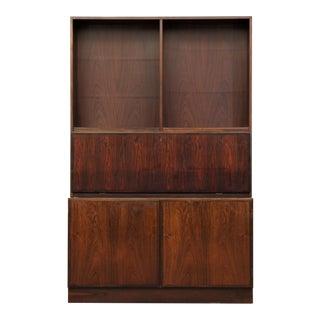 Omann Jun Mobelfabrik Vintage Danish Mid-Century Modern Rosewood Bookcase