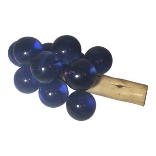 Cobalt Blue Lucite Grapes