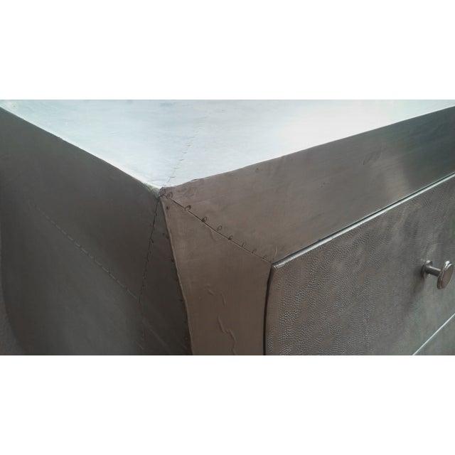 Metal Hammered Silver Dresser - Image 3 of 3