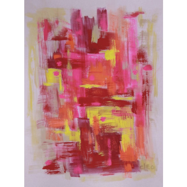"""Bright Lights Big City"" Abstract Painting- Cleo - Image 2 of 2"