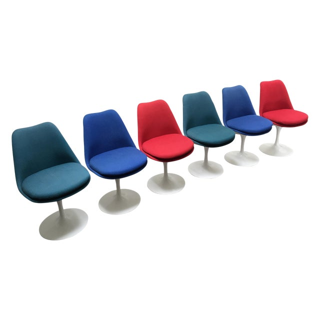 Eero Saarinen for Knoll Tulip Chairs - Set of 6 - Image 1 of 10