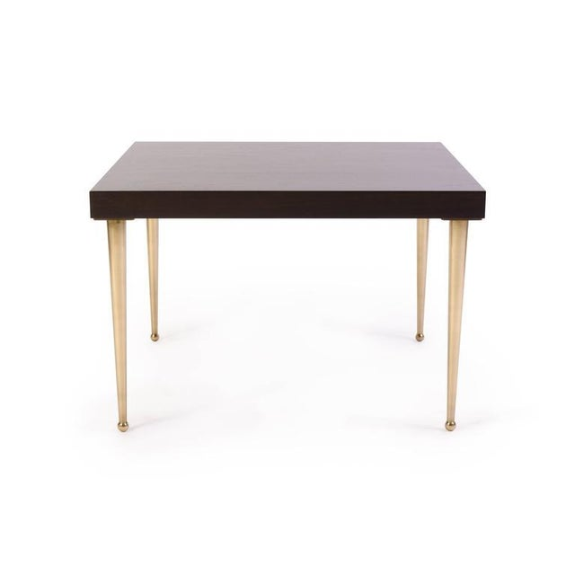 Allister Tables in Ebony Walnut and Turned Brass by Montage - Image 2 of 6