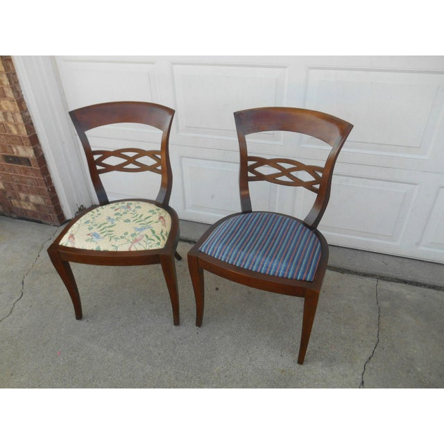 Vintage Baker Furniture Biedermeier Fruitwood Dining Chairs - A Pair - Image 4 of 7